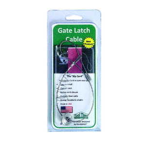 Tool Time  -8.26 in. H x 1 in. W Stainless Steel  Gate Latch