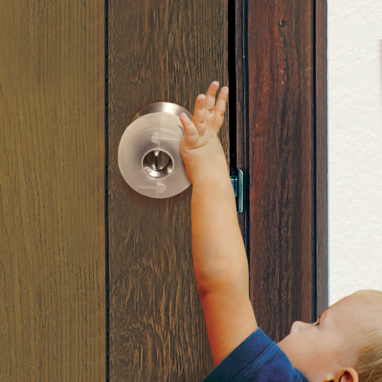 Dreambaby  EZY-Fit  Clear  Plastic  Door Knob Covers  3 pk