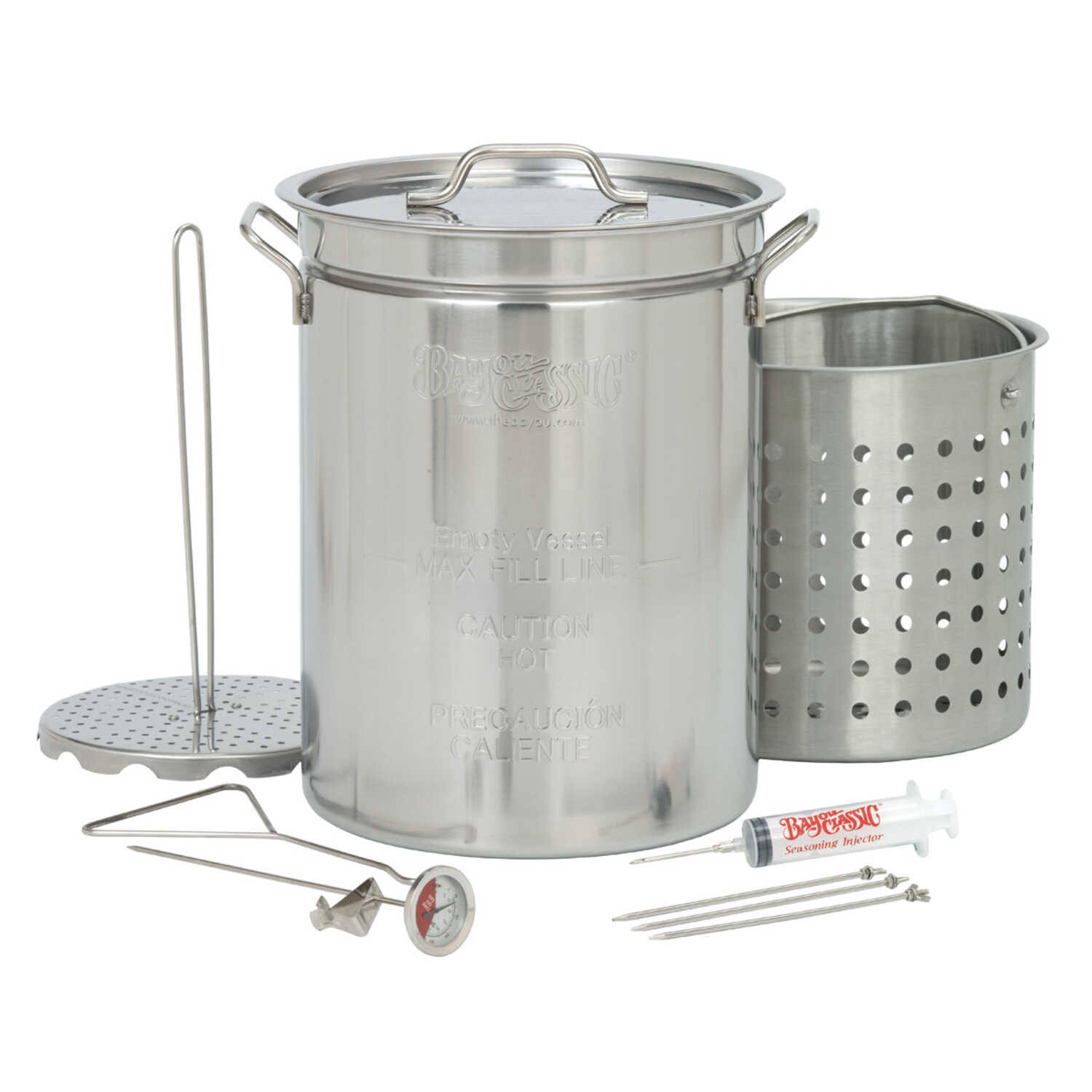 Bayou Classic  Stockpot  Stainless Steel  32 quarts qt.