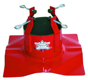 Christmas Mountains  Steel  Christmas Tree Stand  10 ft. Maximum Tree Height Red
