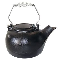 US Stove  Black  Cast Iron  3 qt. Tea Kettle