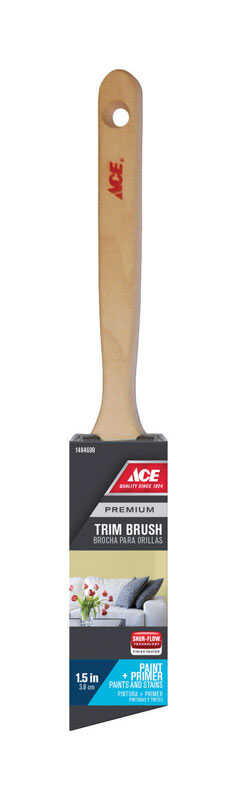Ace  Premium  1-1/2 in. W Medium Stiff  Angle  Nylon Polyester  Trim Paint Brush