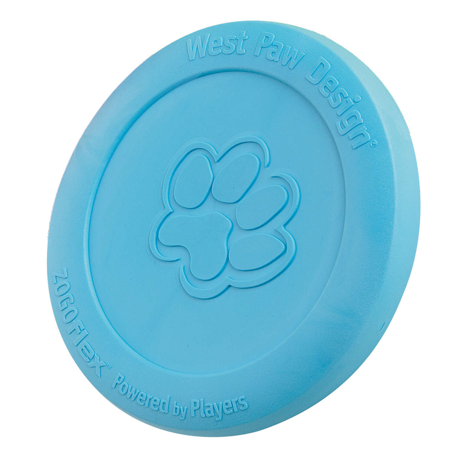 West Paw  Zogoflex  Blue  Zisc Disc  Synthetic Rubber  Frisbee  Large