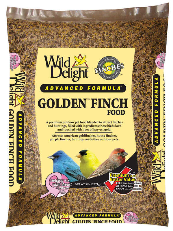 Wild Delight  Golden Finch  Wild Bird Food  Sunflower Kernels  5 lb.