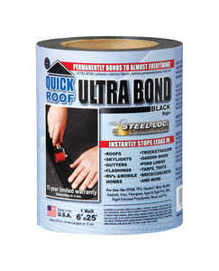 Quick Roof  Ultra Bond  6 in. W x 25 ft. L Tape  Self Stick Instant Waterproof Repair and Flashing