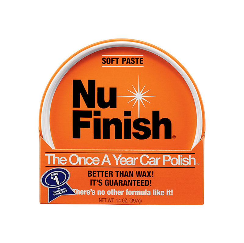 Nu-Finish  Paste  Automobile Polish  14 oz. For Use once a year
