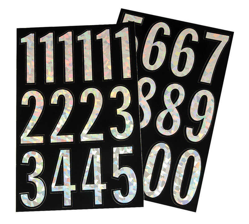 Hy-Ko  3 in. Vinyl  Silver  A-Z  Number Set  Self-Adhesive