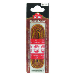 Kiwi  Outdoor  72 in. Gold &  Brown  Boot Laces