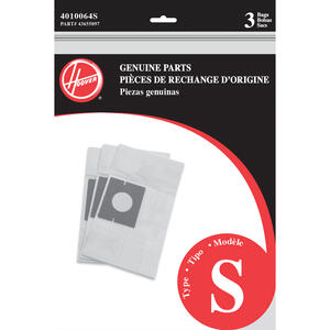 Hoover  Vacuum Bag  For Fits Hoover Futura and Spectrum Canister Cleaners. 3 pk