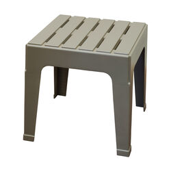 Adams  Big Easy  Square  Gray  Polypropylene  Stackable Side  Table