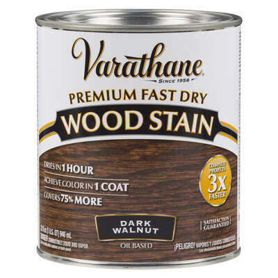 Varathane Semi-Transparent Dark Walnut Oil-Based Urethane Modified Alkyd Wood Stain 1 qt.
