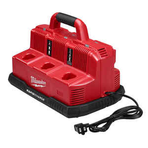 Milwaukee  M18/M12  18 volt Lithium-Ion  6-Port  Rapid Charging Station  1 pc.