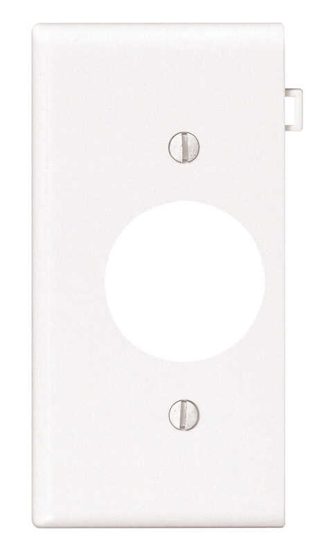 Leviton  End Section  White  1 gang Nylon  Outlet  Wall Plate  1 pk