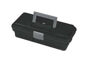 Ace  12 in. Plastic  9.25 in. W x 4 in. H One Latch Tool Box  Black