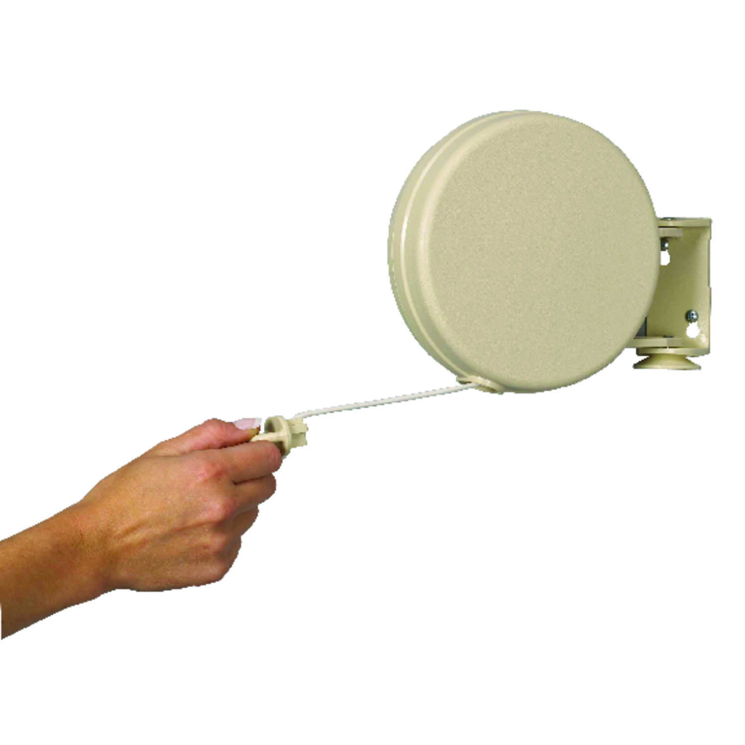Household Essentials  6.5  L White  Plastic  Retractable Clothesline
