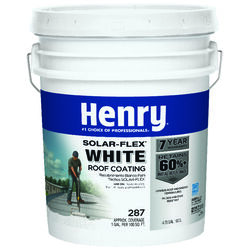 Henry  Solar-Flex 287  Smooth  White  Water Based  Elastomeric Roof Coating  4.75 gal.