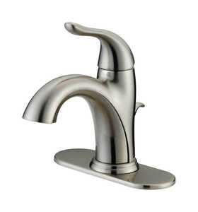OakBrook  Pacifica  Pacifica  Single Handle  Lavatory Pop-Up Faucet  4 in. Brushed Nickel