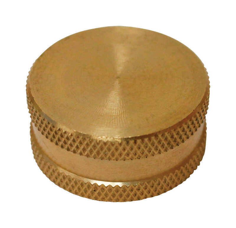 Plumb Pak  Brass  Hose Cap with Washer  3/4 in. Dia. x 3/4 in. Dia.