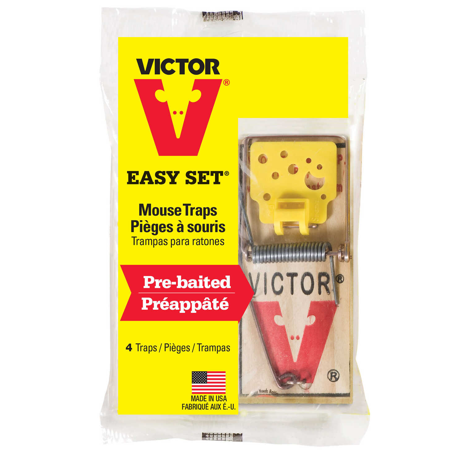 Victor  Small  Snap  Animal Trap  For Mice 4 pk