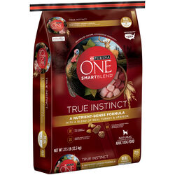 Purina  ONE TRUE INSTINCT  Turkey and Venison  Dry  Dog  Food  27.5 lb.