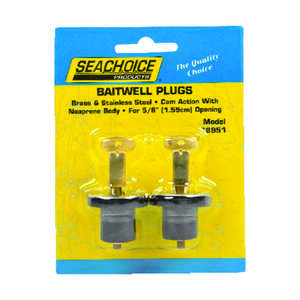 Seachoice  5/8 in. W Stainless Steel  2 pc. Deck and Baitwell Plugs
