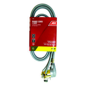 Ace  6/2, 8/1 SRDT  6 ft. L Range Cord 3 Wire