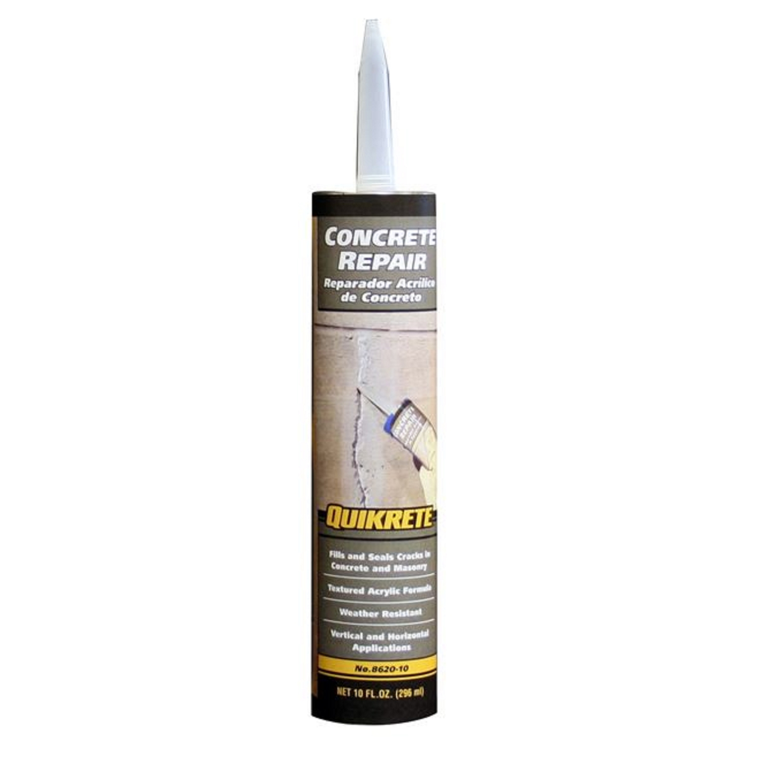 Quikrete  Gray  Acrylic Latex  Concrete Crack Sealant  10 oz.