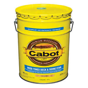 Cabot  Transparent  19200 Natural  Oil-Based  Penetrating Oil  Deck and Siding Stain  5 gal.
