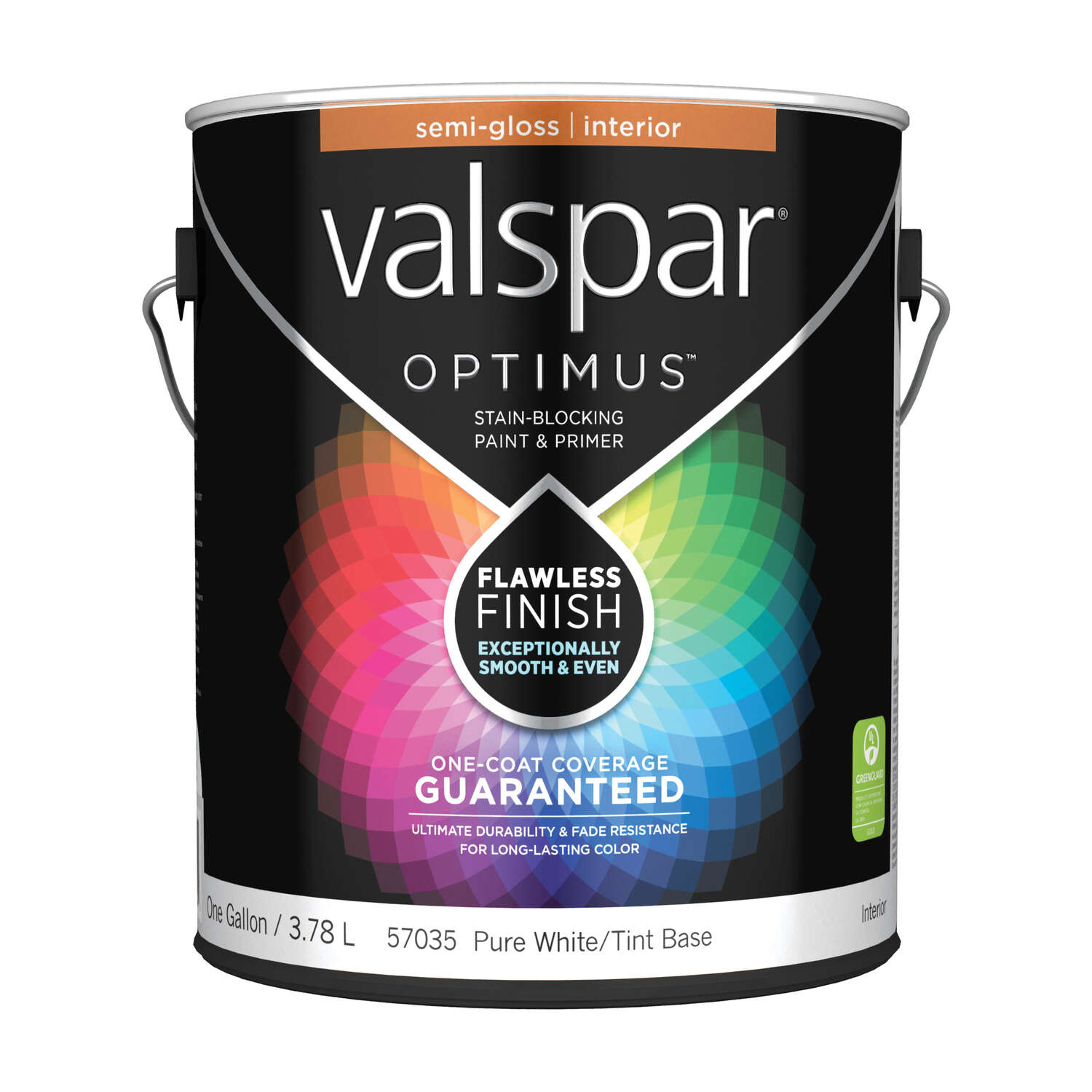 Valspar  Optimus  Semi-Gloss  Basic White  Tint Base  Acrylic Latex  Paint and Primer  Indoor  1 gal