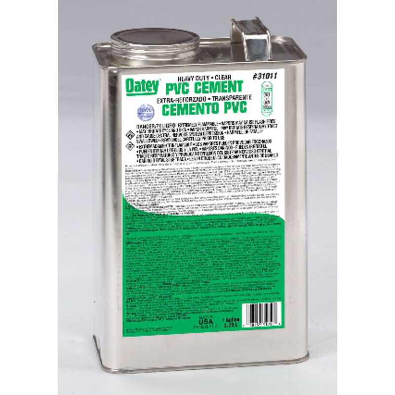 Oatey  Cement  For PVC 1 gal. Clear