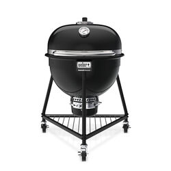 Weber 24 in. Summit E6 Charcoal Kamado Grill and Smoker Black