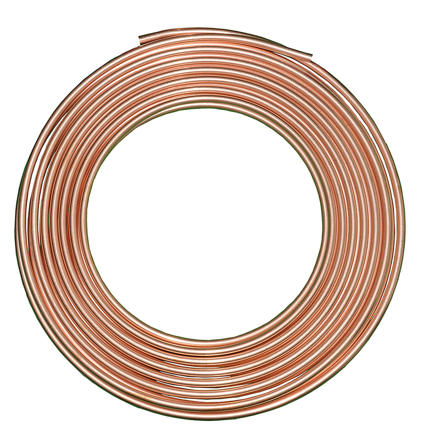 JMF COMPANY  3/8 in. Dia. x 10 ft. L Refer  Copper Refrigeration Tubing