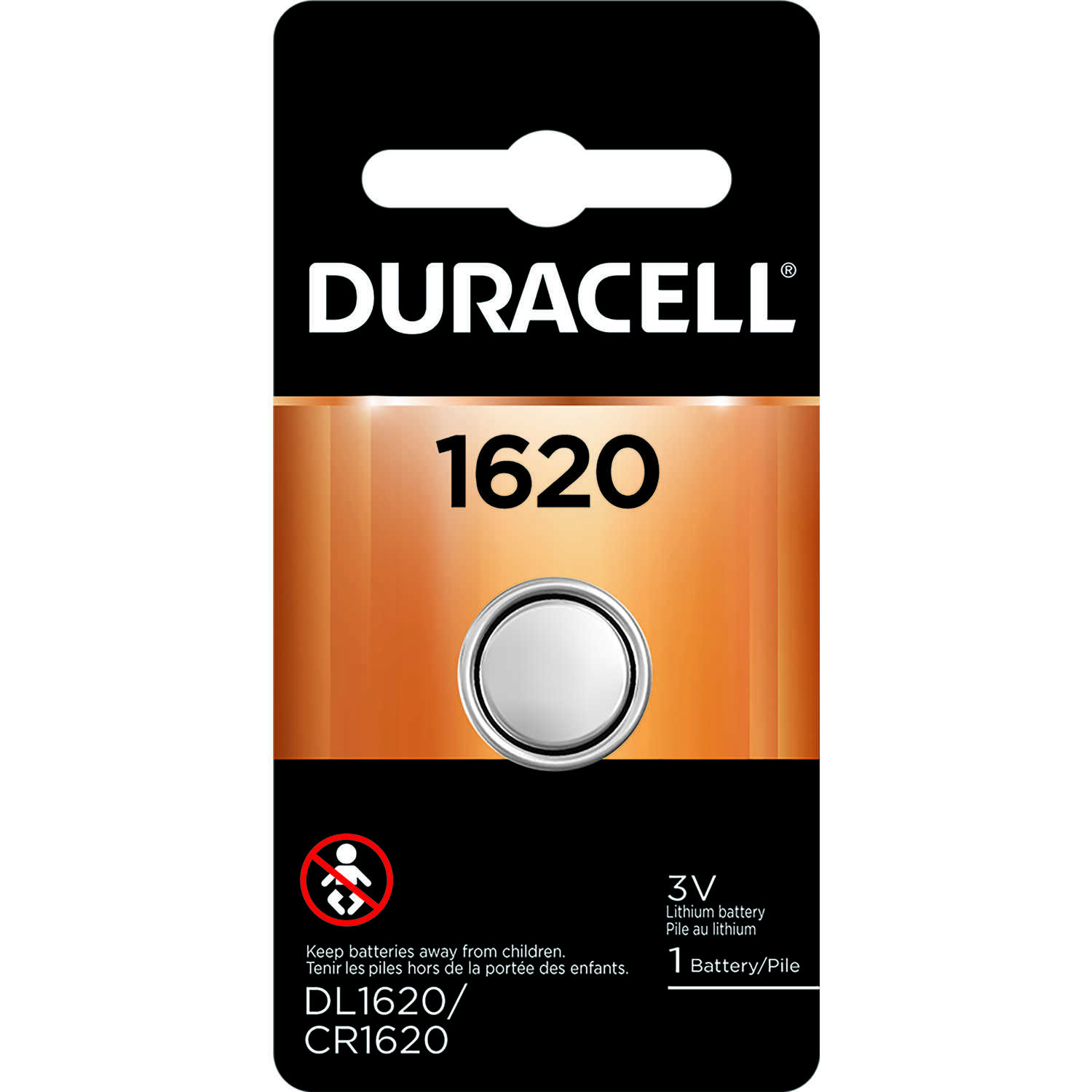 Duracell  Lithium  1620  3 volt Medical Battery  1 pk
