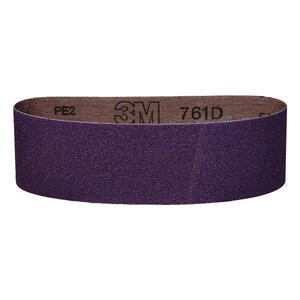 3M  24 inch in. L x 3 in. W Aluminum Oxide  Sanding Belt  80 Grit Medium  1 pc.