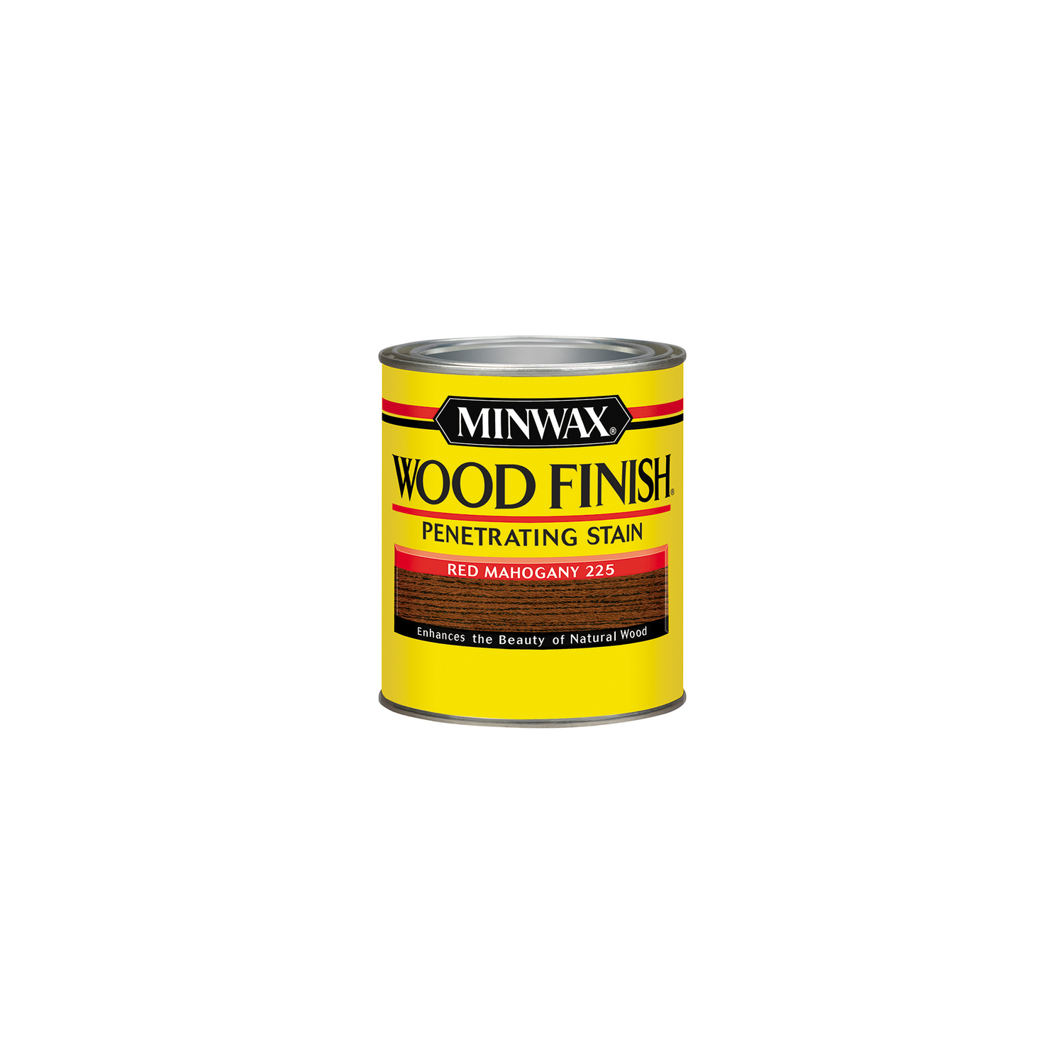 Minwax  Wood Finish  Semi-Transparent  Red Mahogany  Oil-Based  Oil  Wood Stain  0.5 pt.