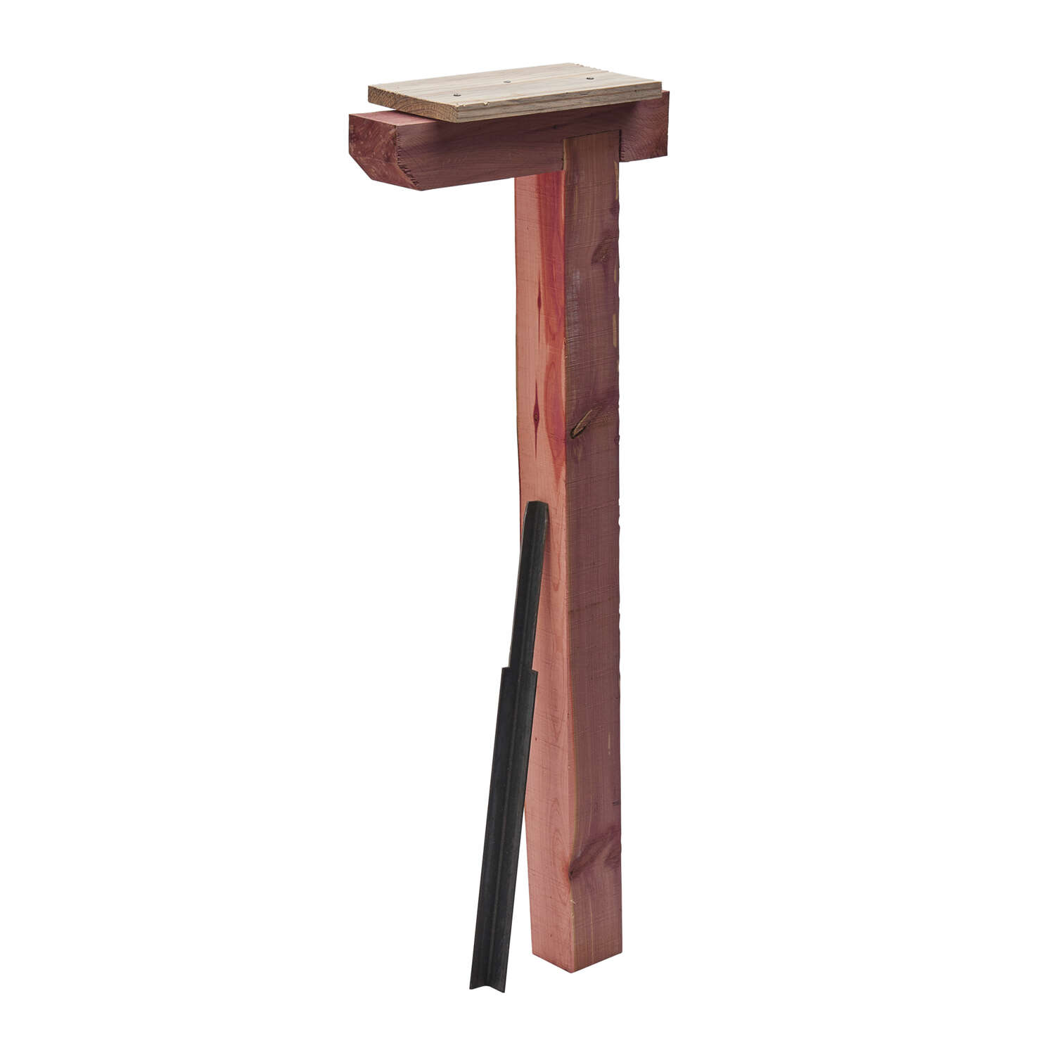 Gibraltar Mailboxes 43.3 in. Natural Red Cedar Mailbox Post