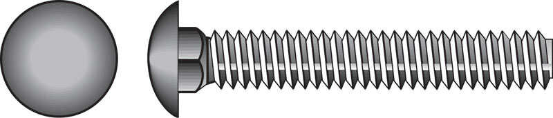 Hillman  3/8 in. Dia. x 2 in. L Zinc-Plated  Steel  Carriage Bolt  100 pk