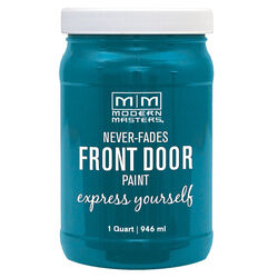 Modern Masters  Satin  Tranquil  Water-Based  Front Door Paint  Outdoor  1 qt.
