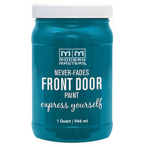Modern Masters  Satin  Tranquil  Front Door Paint  1 qt.