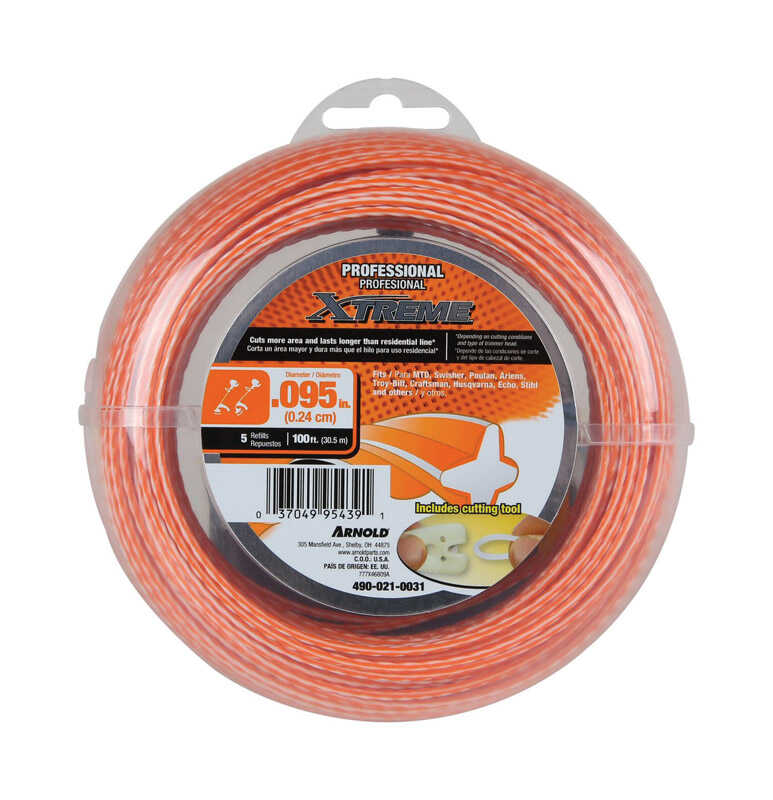 Arnold  Xtreme  Professional Grade  0.095 in. Dia. x 100 ft. L Trimmer Line