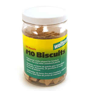Wolfcraft  Hardwood  No.10  Biscuits  Ivory  125 pc.