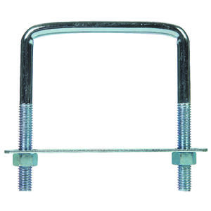 Hampton  3/8 in.  x 3-3/4 in. W x 4 in. L Coarse  Zinc-Plated  Steel  Lumber Size Square Bend U-Bolt