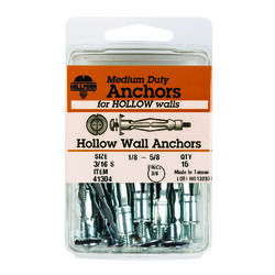 Hillman 3/16 in. Dia. x 3/16 Short in. L Metal Pan Head Hollow Wall Anchors 15 pk