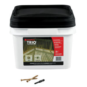 FastenMaster  Trio  No. 10   x 2-1/2 in. L Torx TTAP  Flat Head Epoxy  Deck Screws  1050 per box