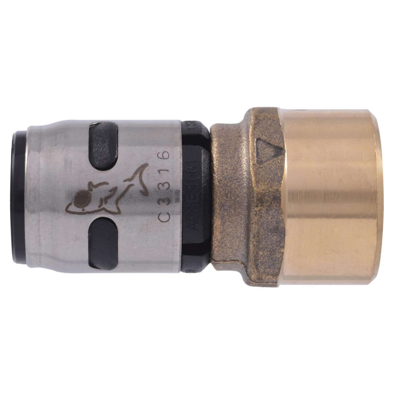 SharkBite  EvoPEX  1/2 in. Push   x 1/2 in. Dia. FNPT  Adapter