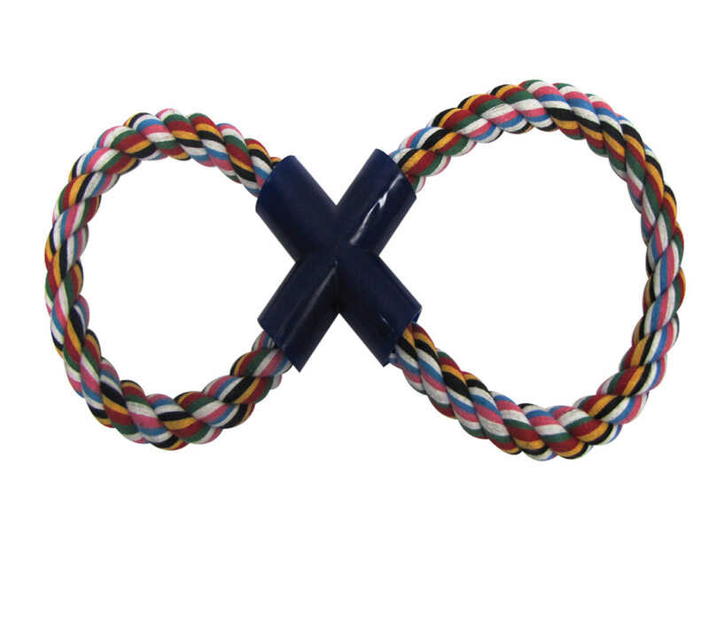 Diggers  Multicolored  Figure 8  Cotton  Figure Eight Rope Dog Toy  Small
