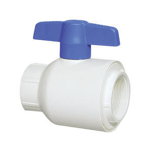 Spears  1/2  1/2 in. FPT   x 1/2 in. Dia. Threaded  FPT  PVC  Utility Ball Valve