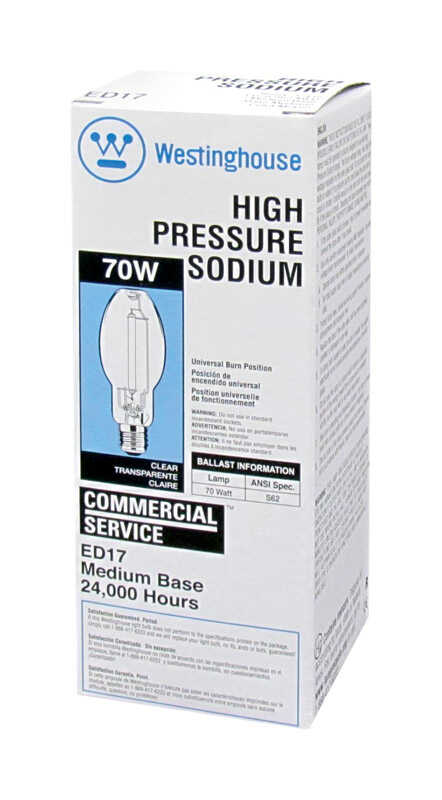 Westinghouse  70 watts ED17  HID Bulb  6,300 lumens Warm White  High Pressure Sodium  1 pk