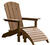 Living Accents  1 pc. Sand  Resin Frame Adirondack  Ottoman