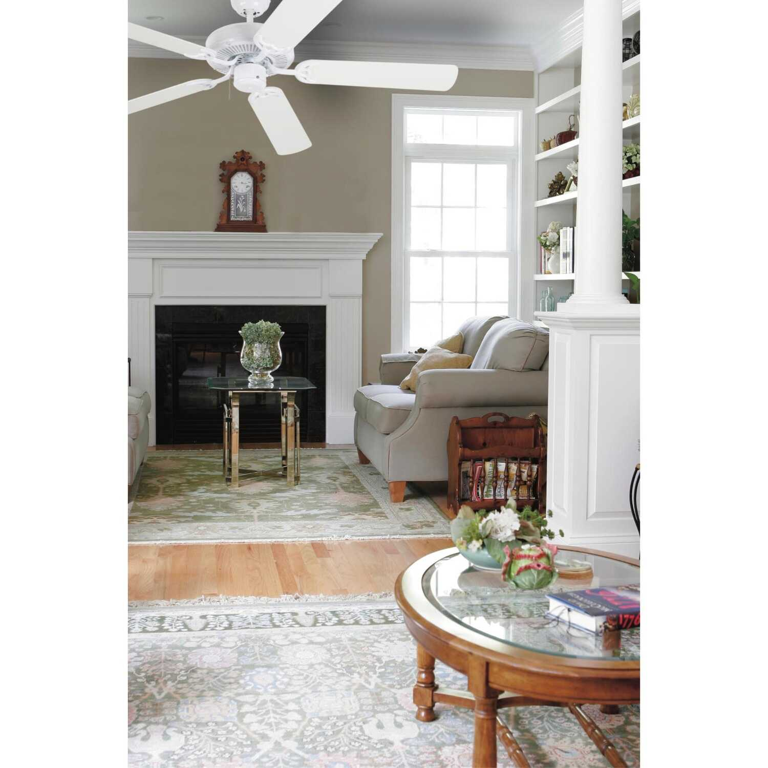 Westinghouse  Contractor's Choice  52 in. 5 blade Indoor  Antique White  Ceiling Fan